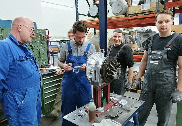 KBB Turbo - Practical training in the production hall