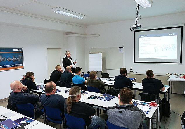 KBB Turbo - Theoretical instruction in the training room