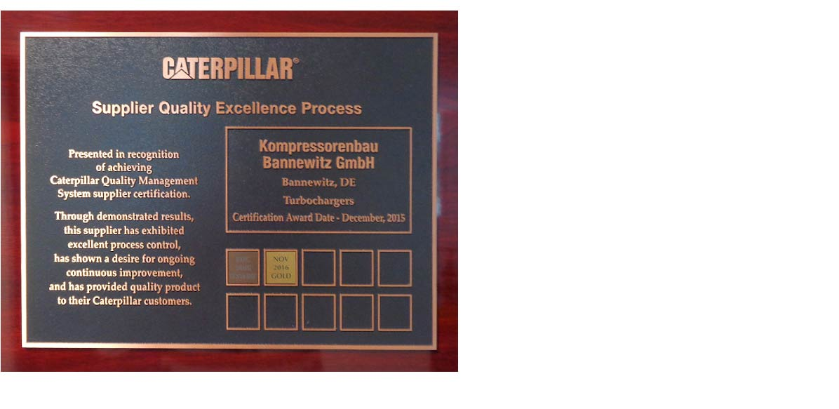 Award from Caterpillar