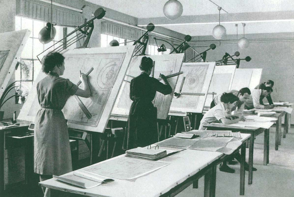 Engineering office in the 50s